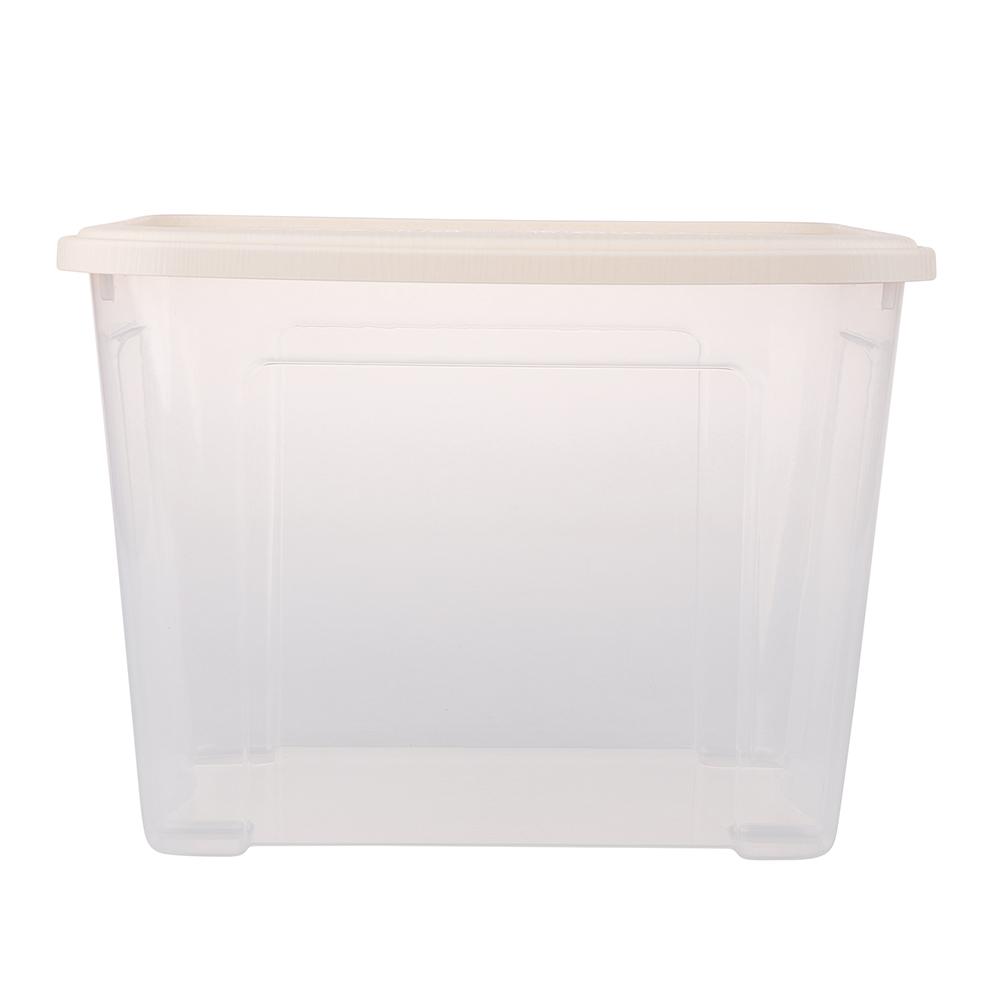 Pojemnik do przechowywania rzeczy Tontarelli Combi Box z pokrywką Arianna Kremowy 37,7x27,7x27,8 cm / 18 l