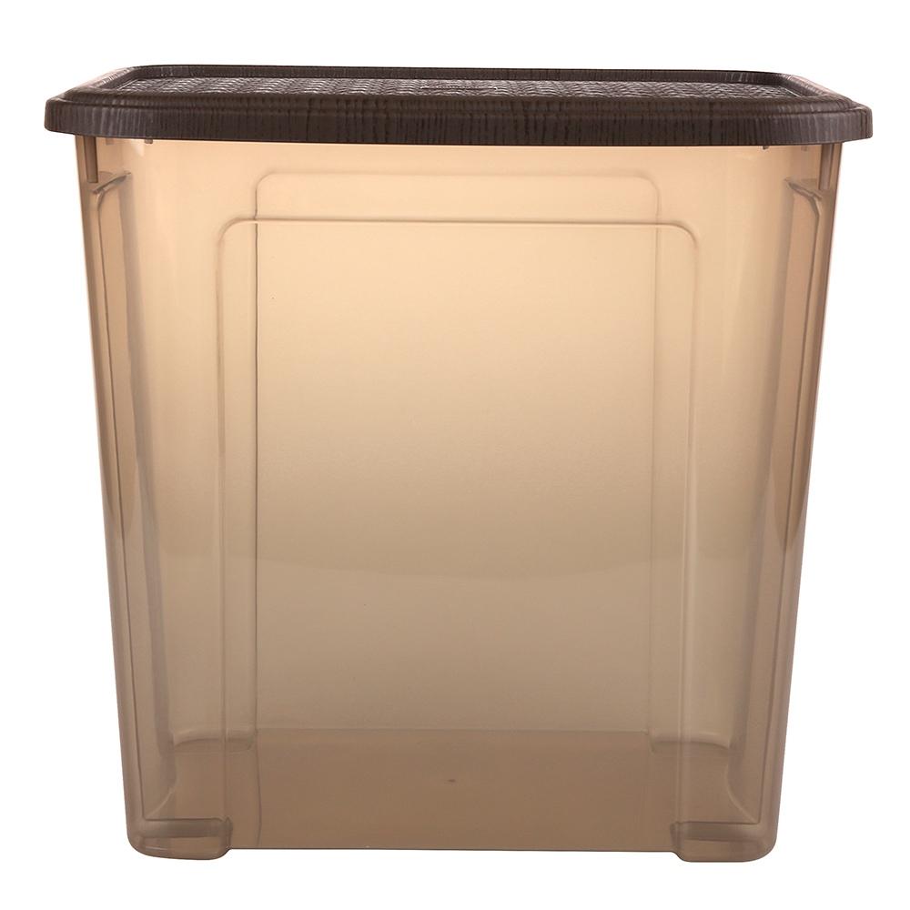 Pojemnik do przechowywania rzeczy Tontarelli Combi Box z pokrywką Arianna Brązowy 37,7x27,7x36,7 cm / 30 l