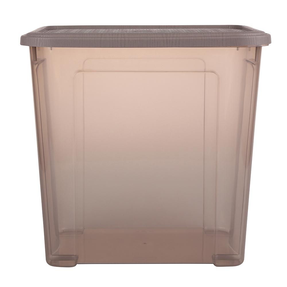 Pojemnik do przechowywania rzeczy Tontarelli Combi Box z pokrywką Arianna Taupe 37,7x27,7x36,7 cm / 30 l
