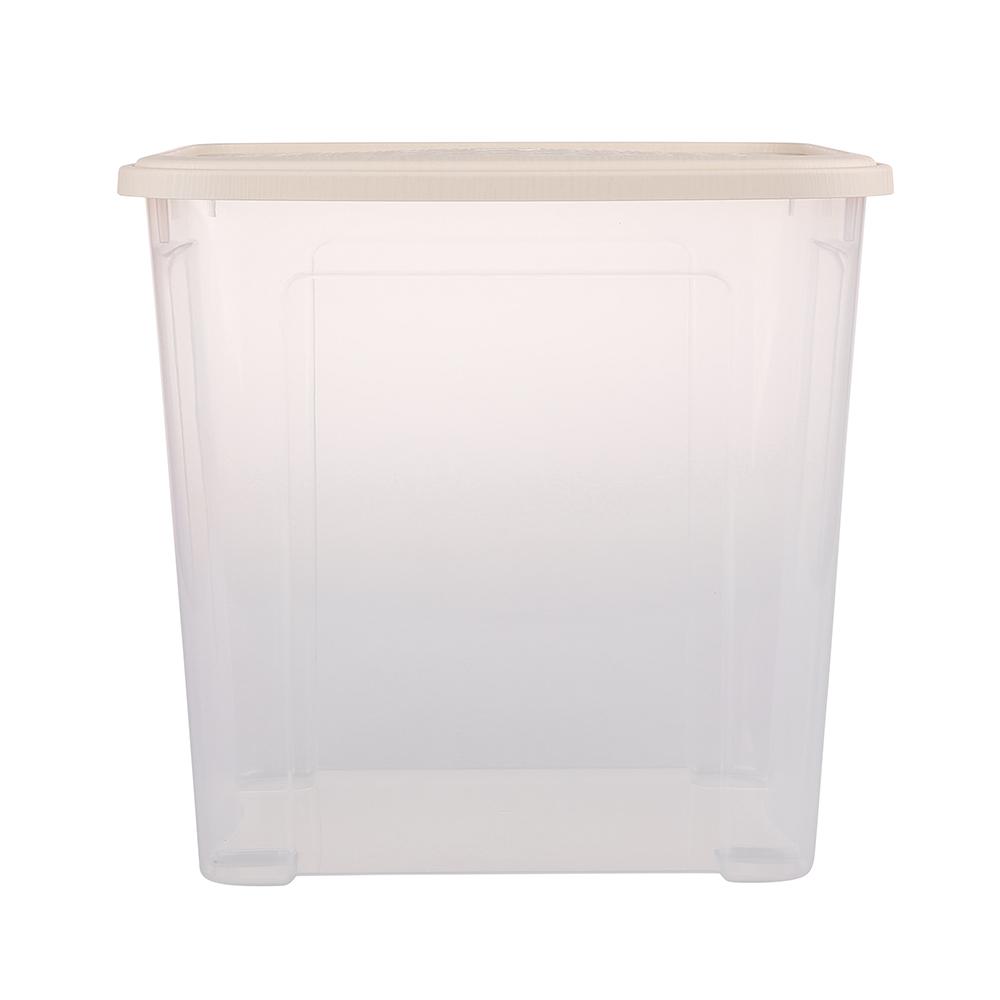 Pojemnik do przechowywania rzeczy Tontarelli Combi Box z pokrywką Arianna Kremowy 37,7x27,7x36,7 cm / 30 l
