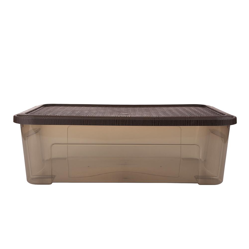 Pojemnik do przechowywania rzeczy Tontarelli Combi Box z pokrywką Arianna Brązowy 58,2x38x18,8 cm / 29,5 l