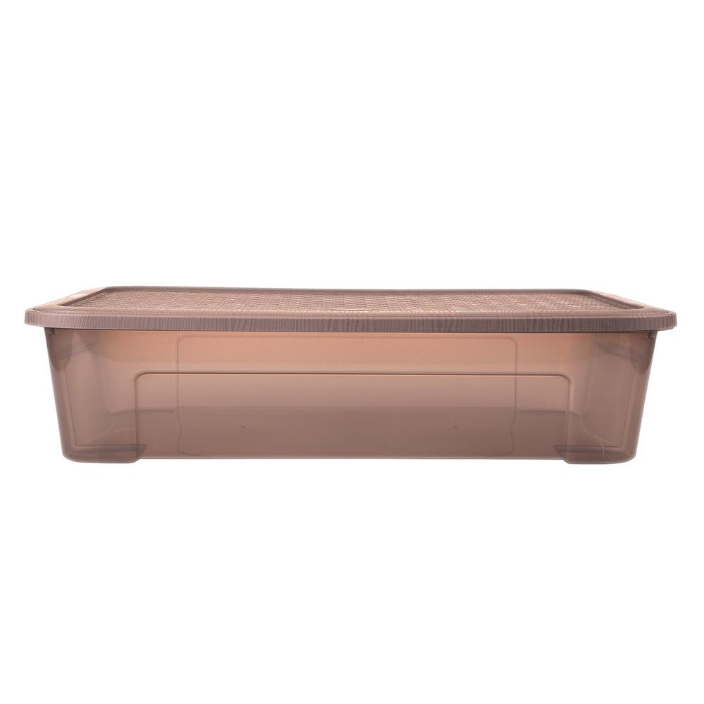 Pojemnik do przechowywania rzeczy Tontarelli Combi Box z pokrywką Arianna Taupe 58,2x38x18,8 cm / 29,5 l