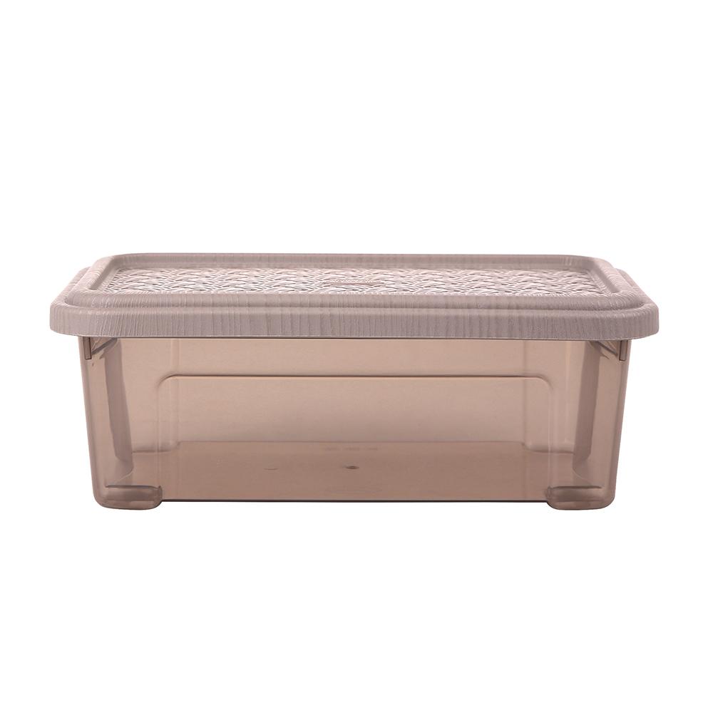 Pojemnik do przechowywania rzeczy Tontarelli Combi Box z pokrywką Arianna Taupe 26,2x17x9,6 cm / 2,5 l