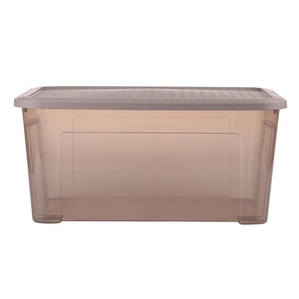Pojemnik do przechowywania rzeczy Tontarelli Combi Box z pokrywką Arianna Taupe 58,2x38x27,8 cm / 43 l
