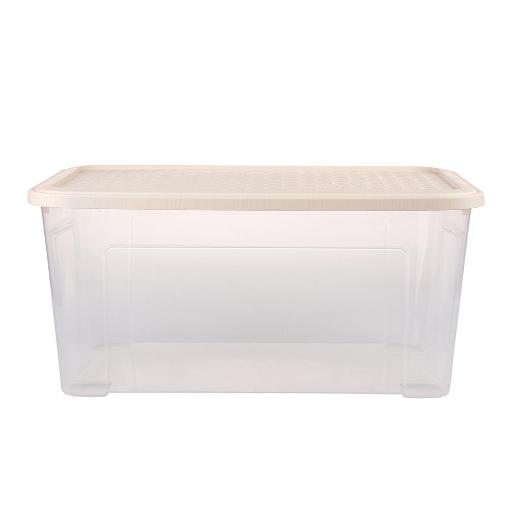 Pojemnik do przechowywania rzeczy Tontarelli Combi Box z pokrywką Arianna Kremowy 58,2x38x27,8 cm / 43 l