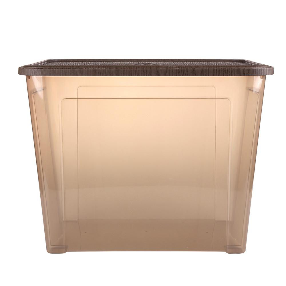Pojemnik do przechowywania rzeczy Tontarelli Combi Box z pokrywką Arianna Brązowy 58,2x38x45,8 cm / 67 l