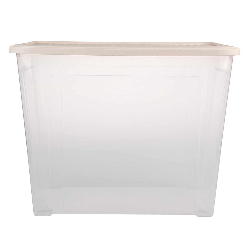 Pojemnik do przechowywania rzeczy Tontarelli Combi Box z pokrywką Arianna Kremowy 58,2x38x45,8 cm / 67 l