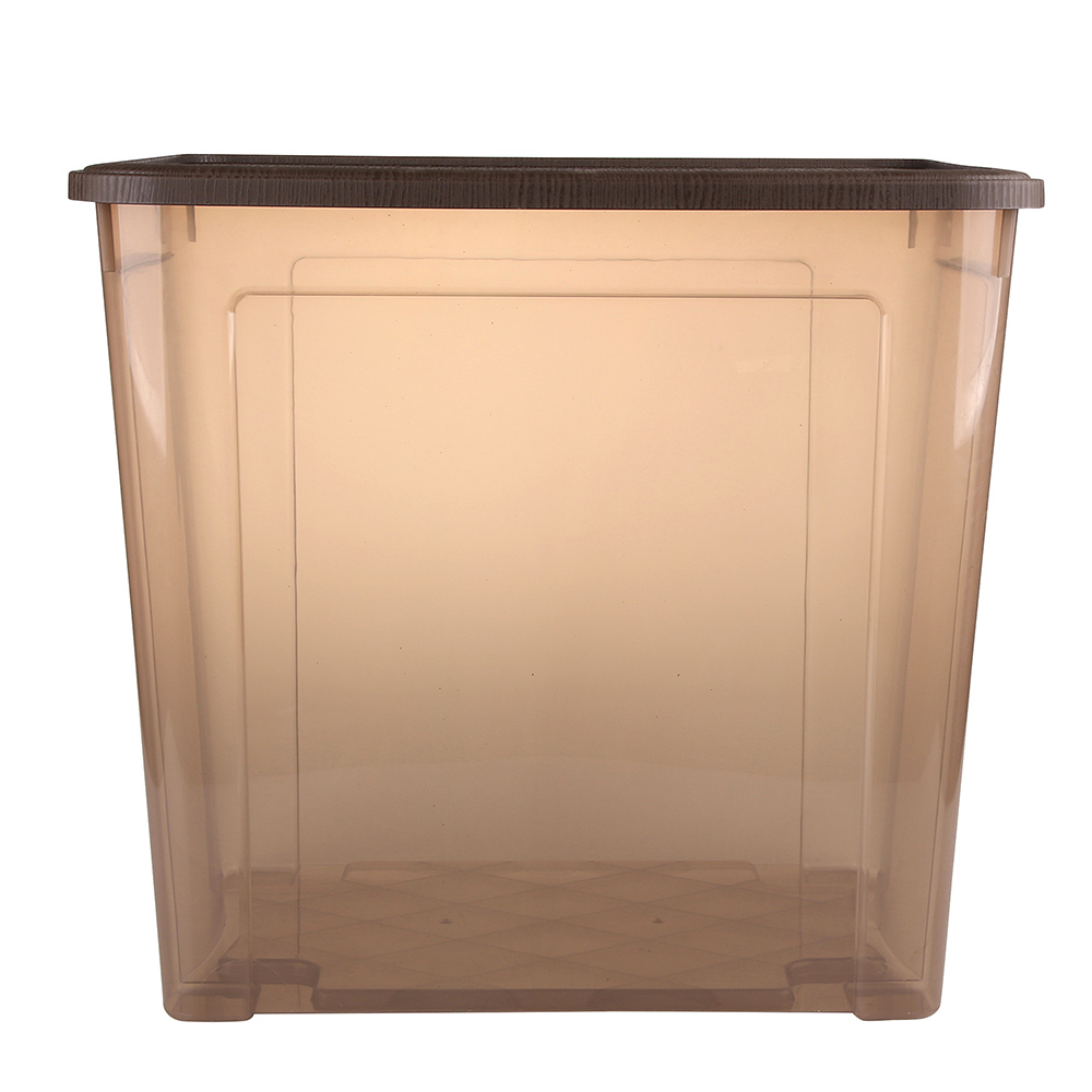 Pojemnik do przechowywania rzeczy Tontarelli Combi Box z pokrywką Arianna Brązowy 58,2x38x54,5 cm / 85 l