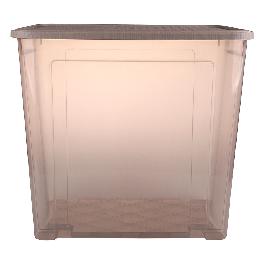 Pojemnik do przechowywania rzeczy Tontarelli Combi Box z pokrywką Arianna Taupe 58,2x38x54,5 cm / 85 l