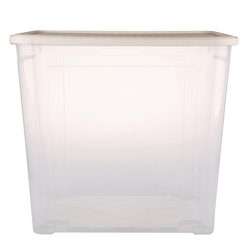 Pojemnik do przechowywania rzeczy Tontarelli Combi Box z pokrywką Arianna Kremowy 58,2x38x54,5 cm / 85 l