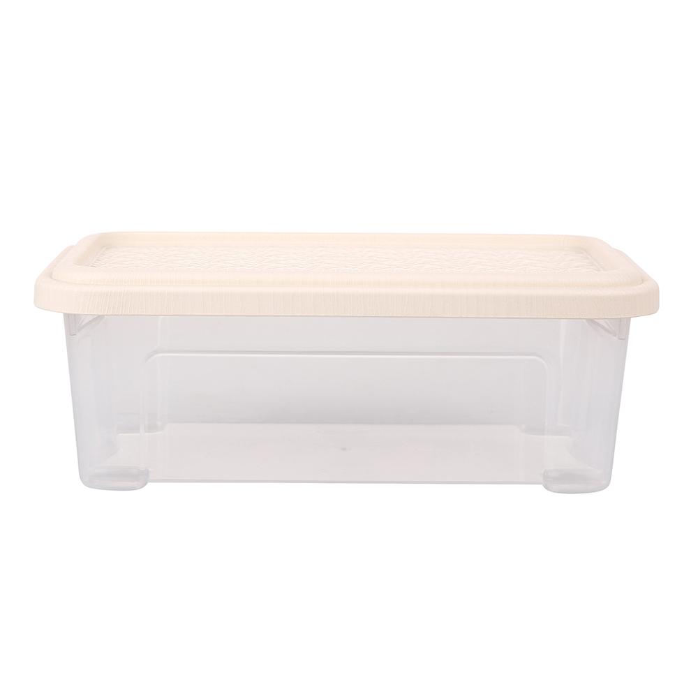 Pojemnik do przechowywania rzeczy Tontarelli Combi Box z pokrywką Arianna Kremowy 26,2x17x9,6 cm / 2,5 l