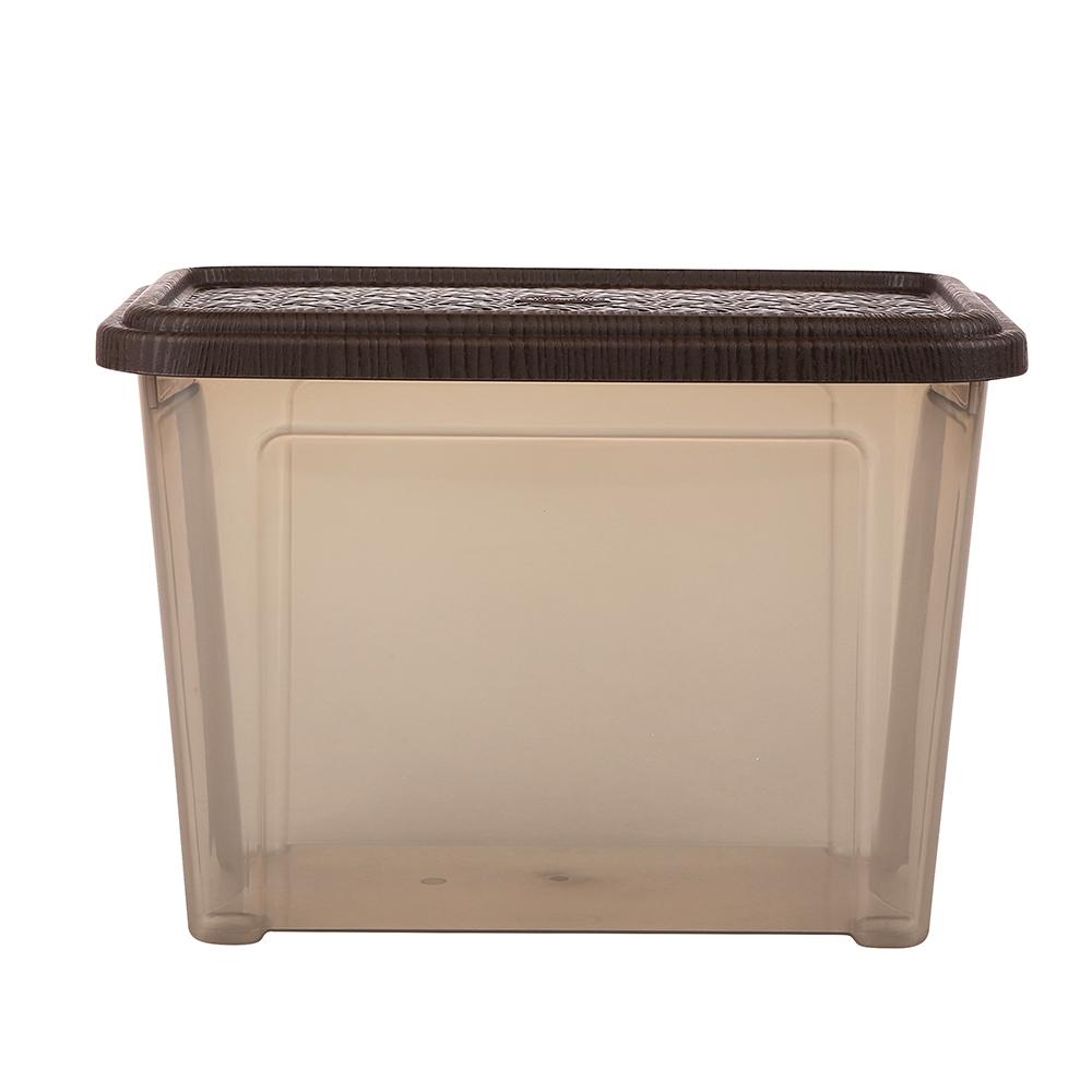 Pojemnik do przechowywania rzeczy Tontarelli Combi Box z pokrywką Arianna Brązowy 26,2x17x18,8cm / 4,6 l