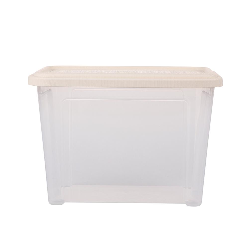 Pojemnik do przechowywania rzeczy Tontarelli Combi Box z pokrywką Arianna Kremowy 26,2x17x18,8cm / 4,6 l