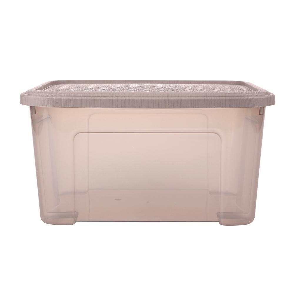 Pojemnik do przechowywania rzeczy Tontarelli Combi Box z pokrywką Arianna Taupe 37,7x27,7x18,8 cm / 13 l