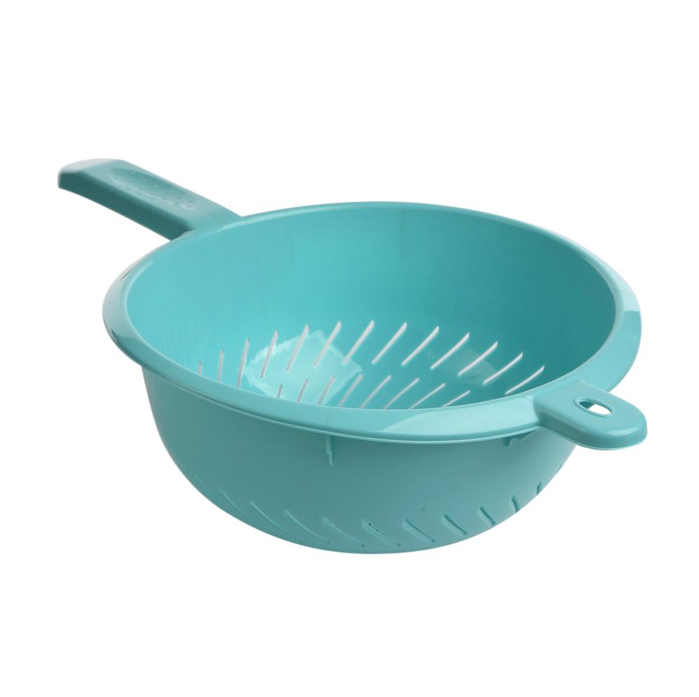 Cedzak / Miska cedzakowa z rączką Keeeper Niebieski 24 cm