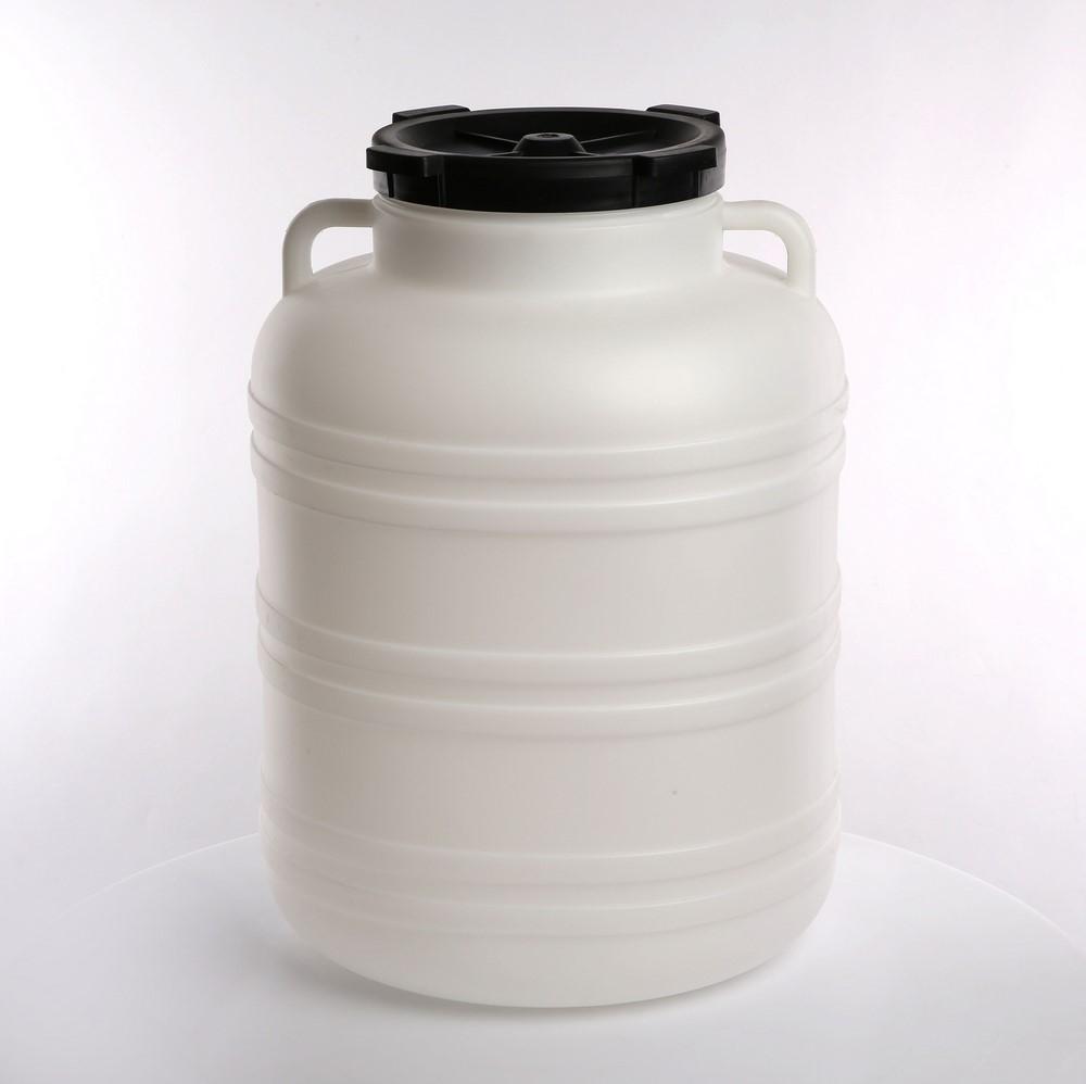 Słoik / Słój / Beczka do kiszenia / na zaprawy z uchwytami plastikowa Browin 60 l