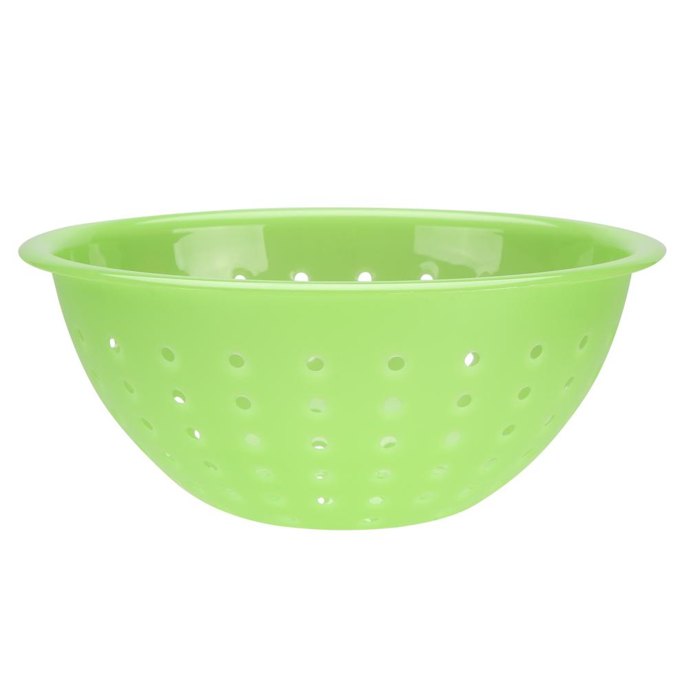 Cedzak / durszlak z tworzywa sztucznego Sagad Weekend 24 cm zielony