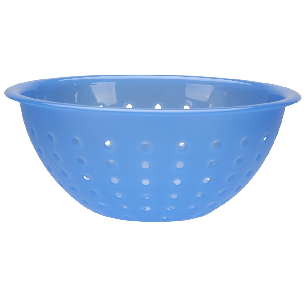 Cedzak / durszlak z tworzywa sztucznego Sagad Weekend 24 cm niebieski