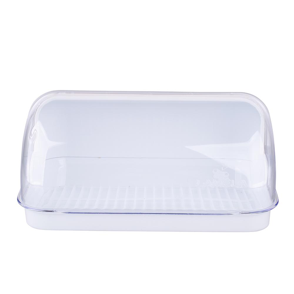 Chlebak plastikowy duży Lamela biały