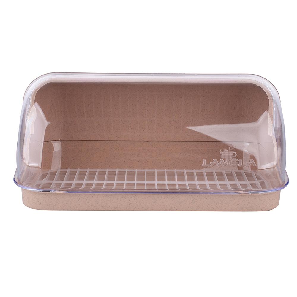 Chlebak plastikowy duży Lamela beżowy
