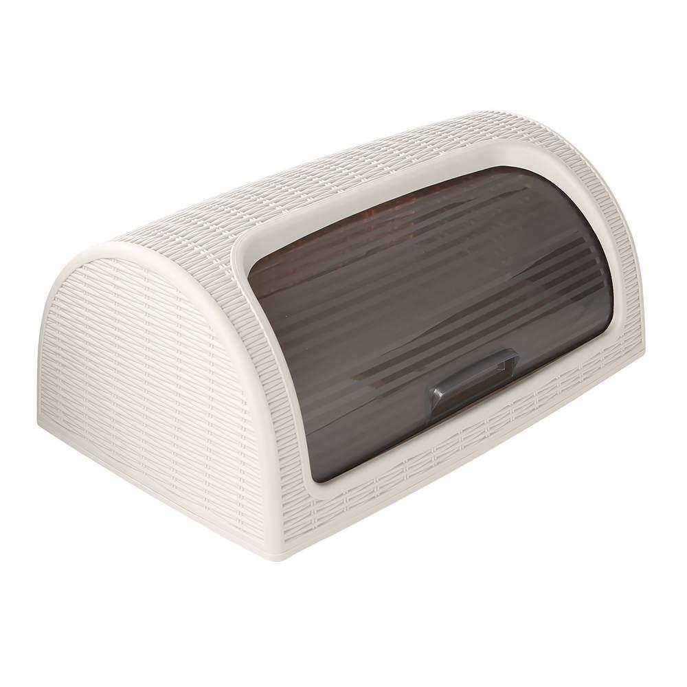Chlebak tworzywo sztuczne / rattan Katex beżowy 41,7x26,9x18,1 cm