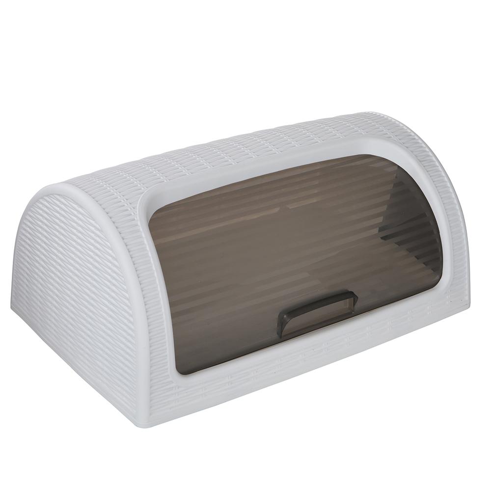 Chlebak tworzywo sztuczne / rattan Katex biały 41,7x26,9x18,1 cm