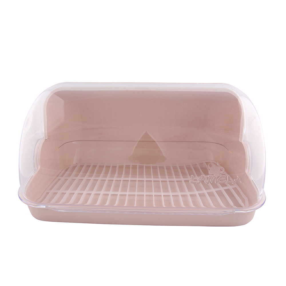 Chlebak / pojemnik na pieczywo z tworzywa sztucznego Lamela Mały jasny beż