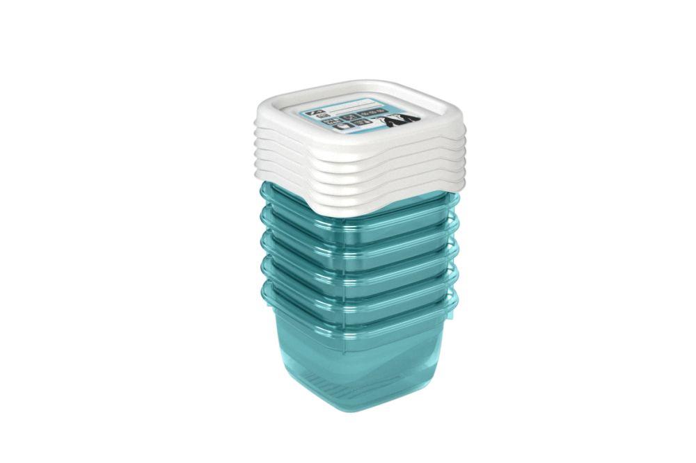 Pojemnik do przechowywania żywności MIA POLAR kwadratowy, zestaw 6 pojemników (6x0,1l)