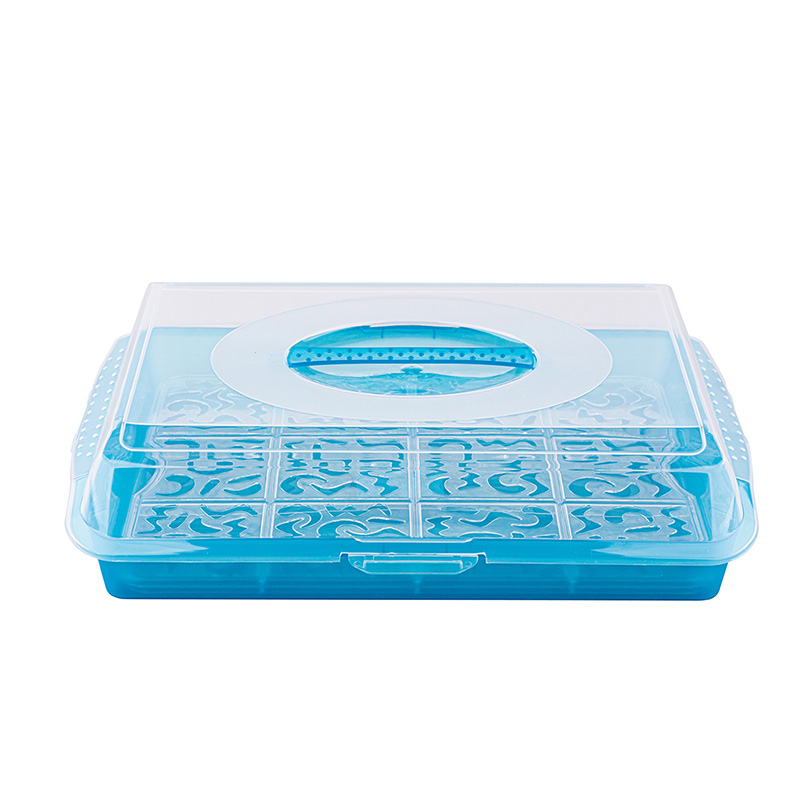 Cake box party-butler 45x35x11cm fresh blue
