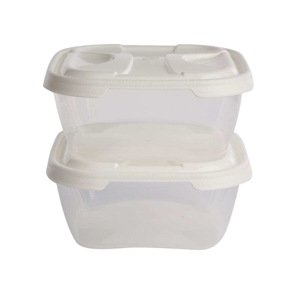 Pojemniki do przechowywania żywności kwadratowe Tontarelli Nuvola 1 l (2 sztuki)