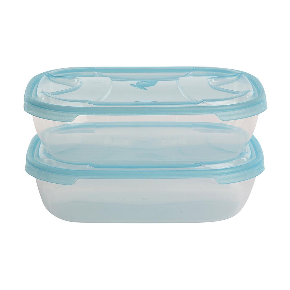 Pojemniki do przechowywania żywności kwadratowe Tontarelli Nuvola 1,15 l (2 sztuki)