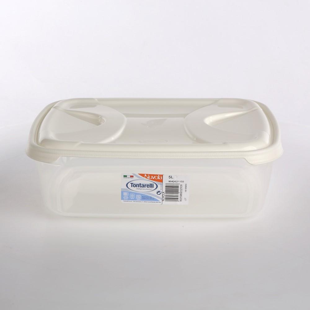 Pojemnik do przechowywania żywności kwadratowy Tontarelli Nuvola Frigo Box 5 l biały