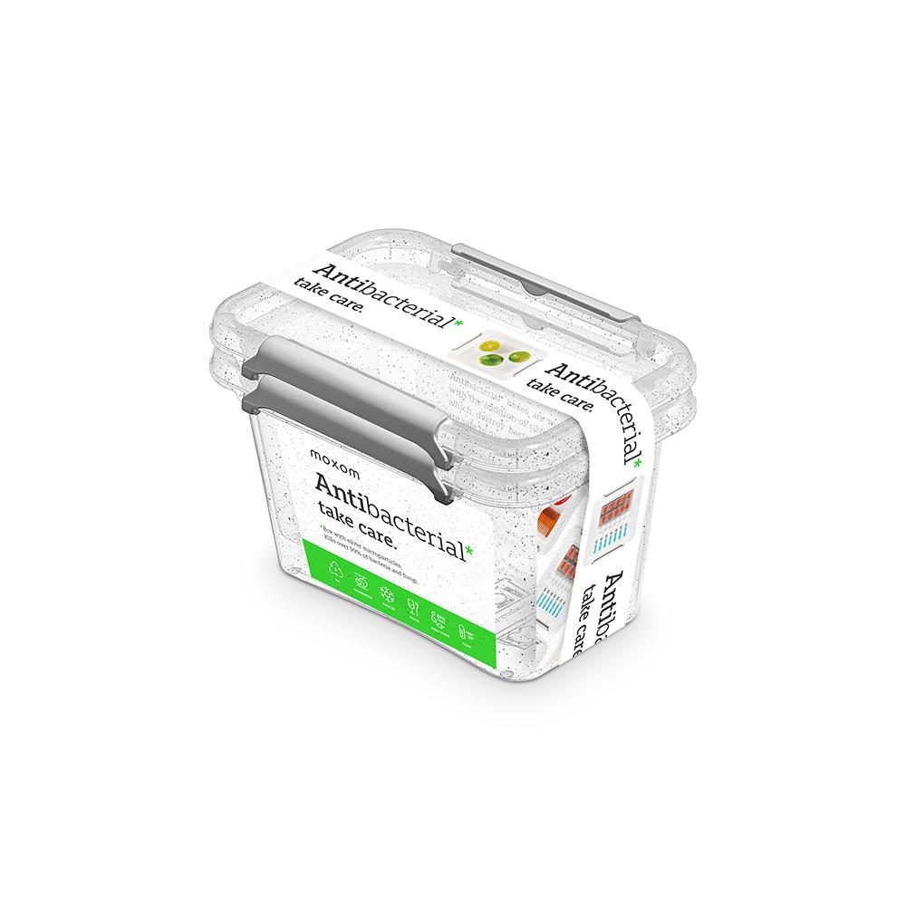Pojemnik do przechowywania żywności / na żywność / artykuły higieniczne / z pokrywką / Mikrocząstki srebra Orplast Nanobox 650 ml (2 sztuki)