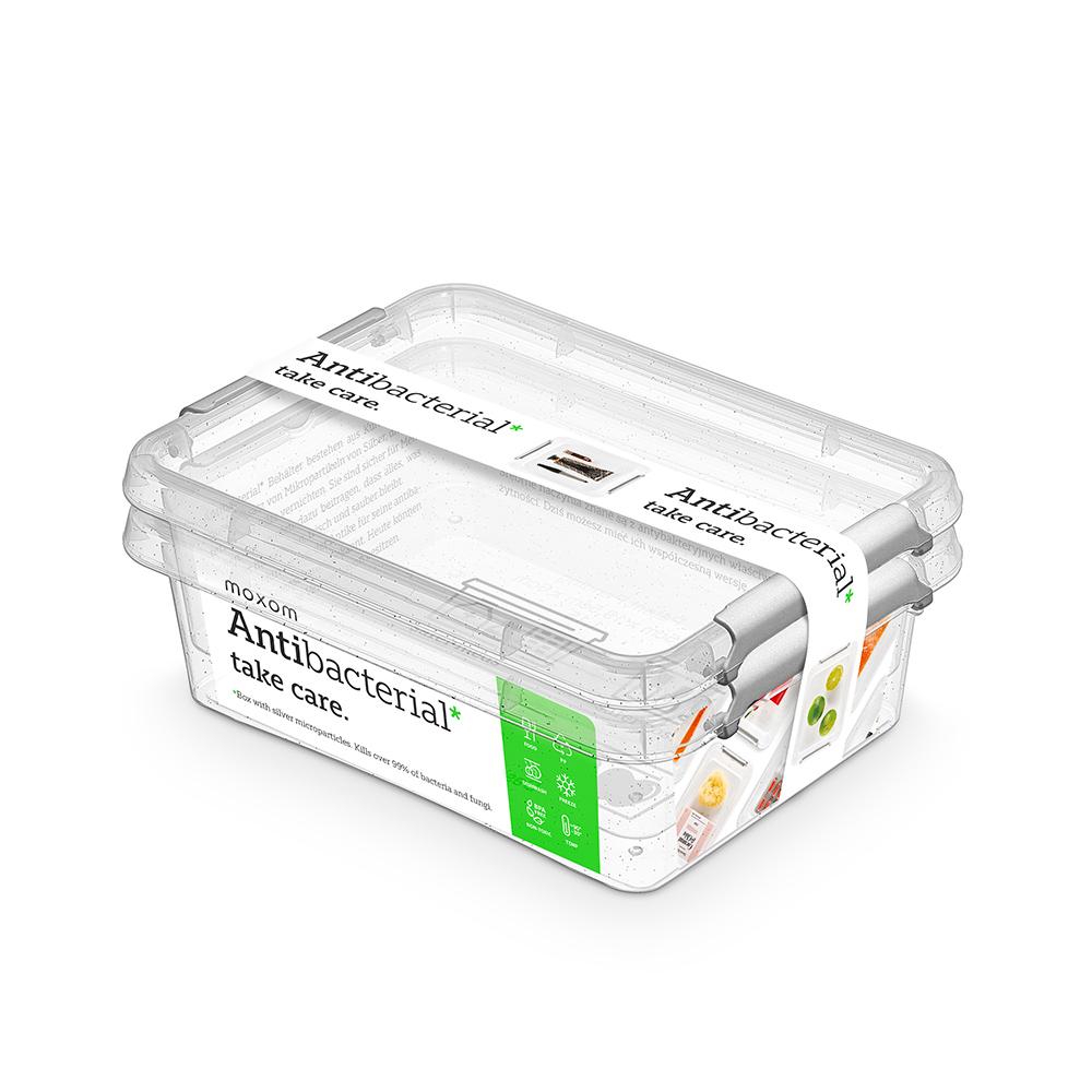 Pojemnik do przechowywania żywności / na żywność / artykuły higieniczne / z pokrywką / Mikrocząstki srebra Orplast Nanobox 1,15 l (2 sztuki)