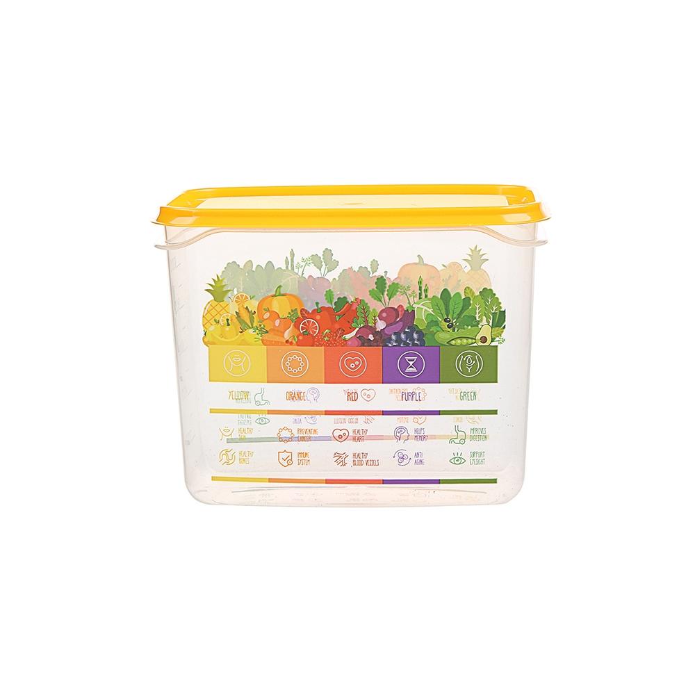 Pojemnik hermetyczny do przechowywania żywności Berossi Vitaline 1 l żółty