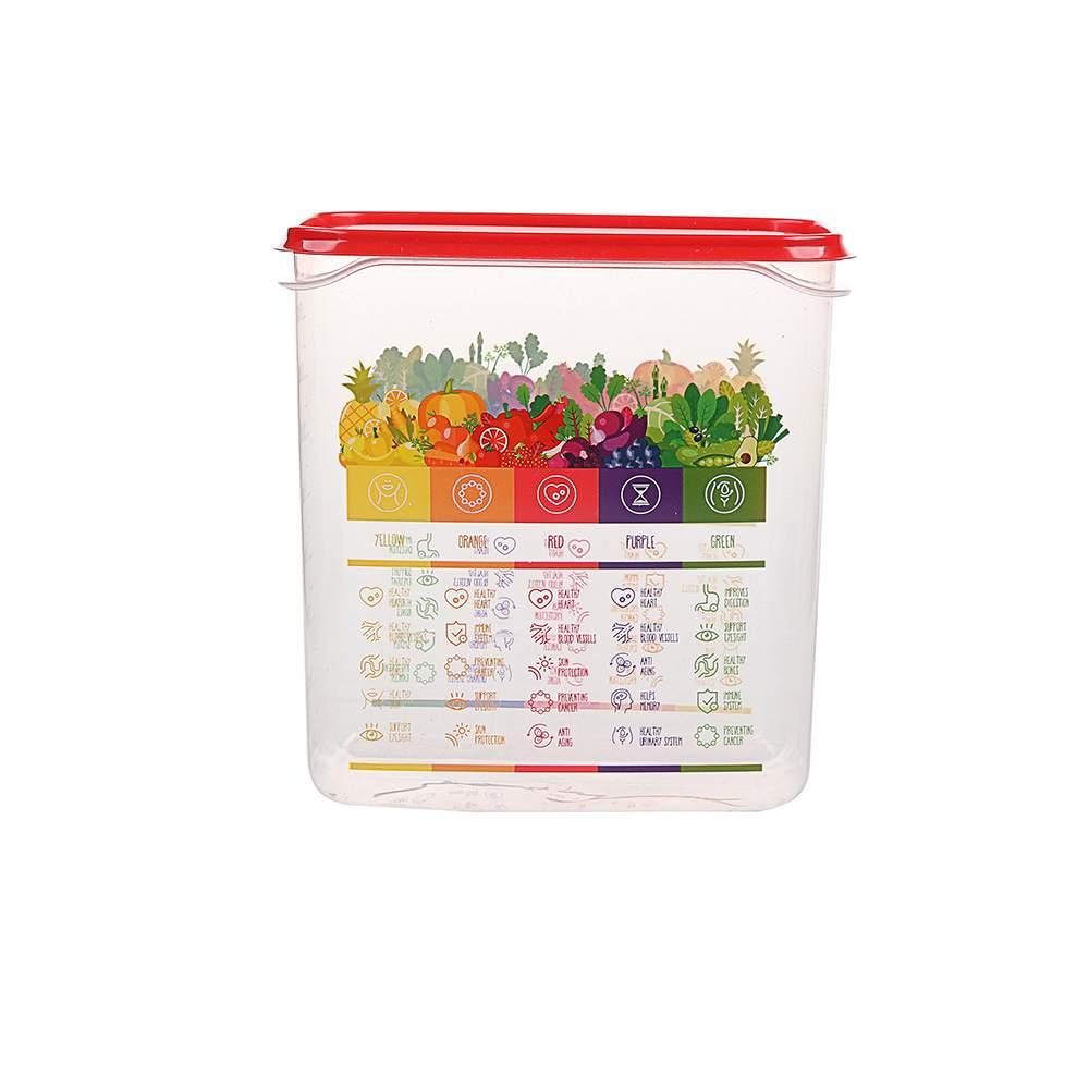Pojemnik hermetyczny do przechowywania żywności Berossi Vitaline 1,5 l czerwony