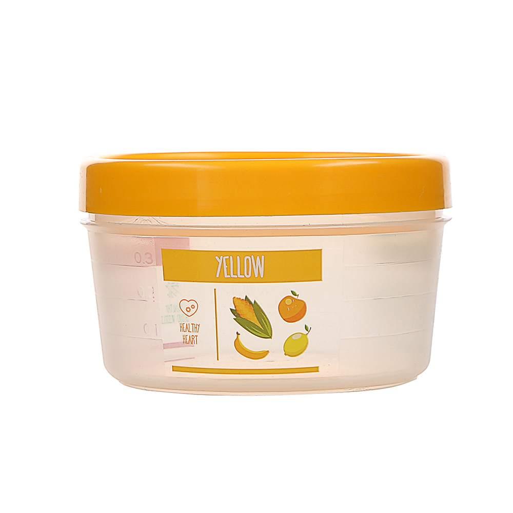 Pojemnik hermetyczny do przechowywania żywności Berossi Vitaline okrągły 0,5 l żółty