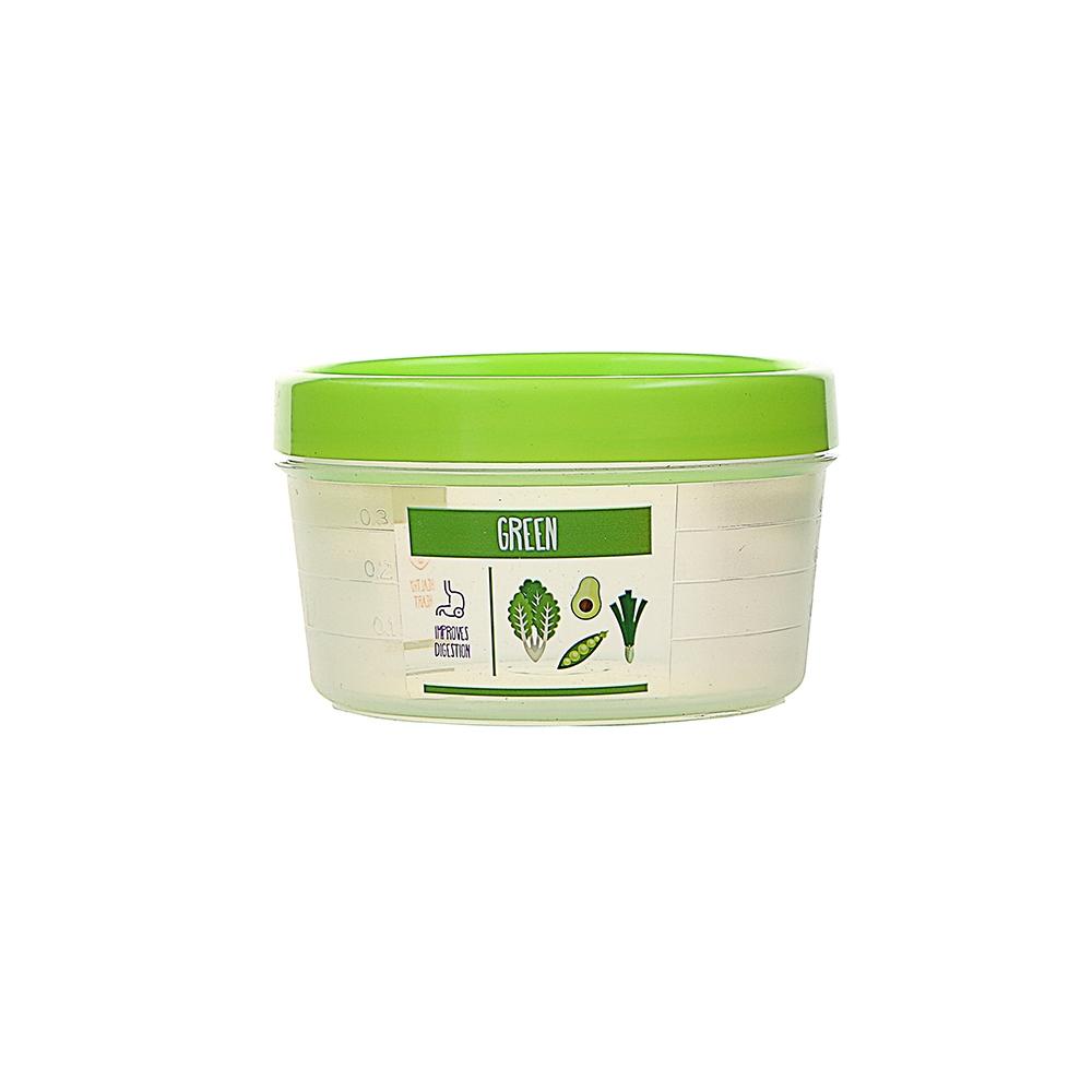 Pojemnik hermetyczny do przechowywania żywności Berossi Vitaline okrągły 0,5 l zielony