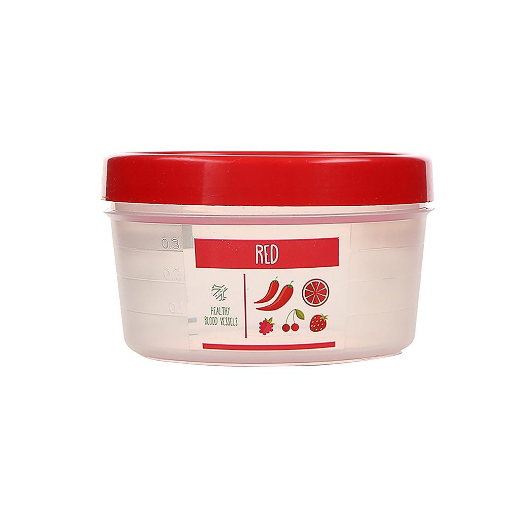 Pojemnik hermetyczny do przechowywania żywności Berossi Vitaline okrągły 0,5 l czerwony