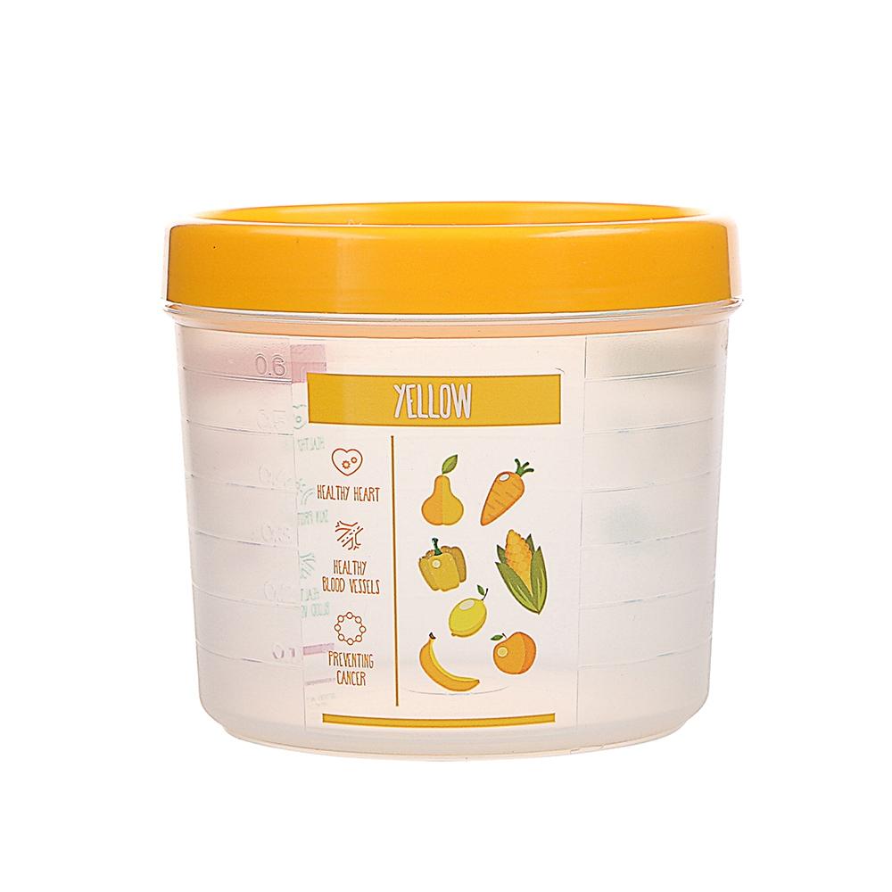 Pojemnik hermetyczny do przechowywania żywności Berossi Vitaline okrągły 0,8 l żółty