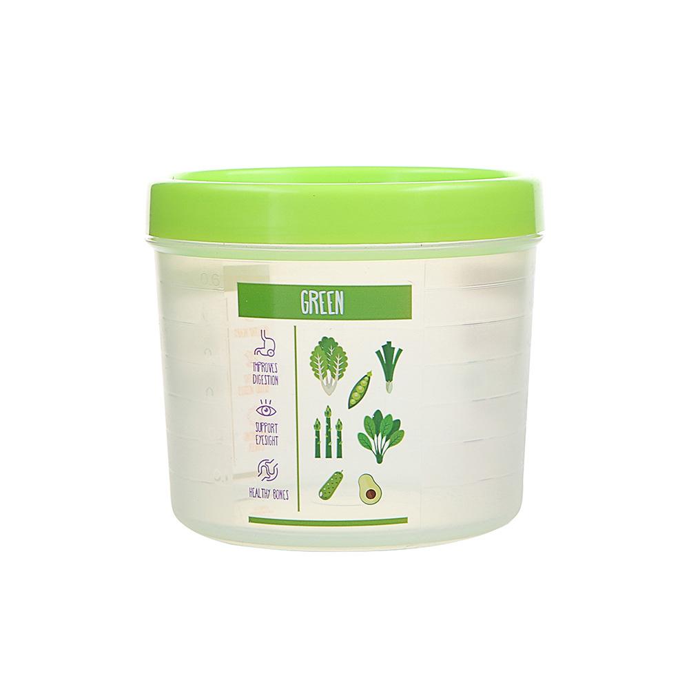 Pojemnik hermetyczny do przechowywania żywności Berossi Vitaline okrągły 0,8 l zielony
