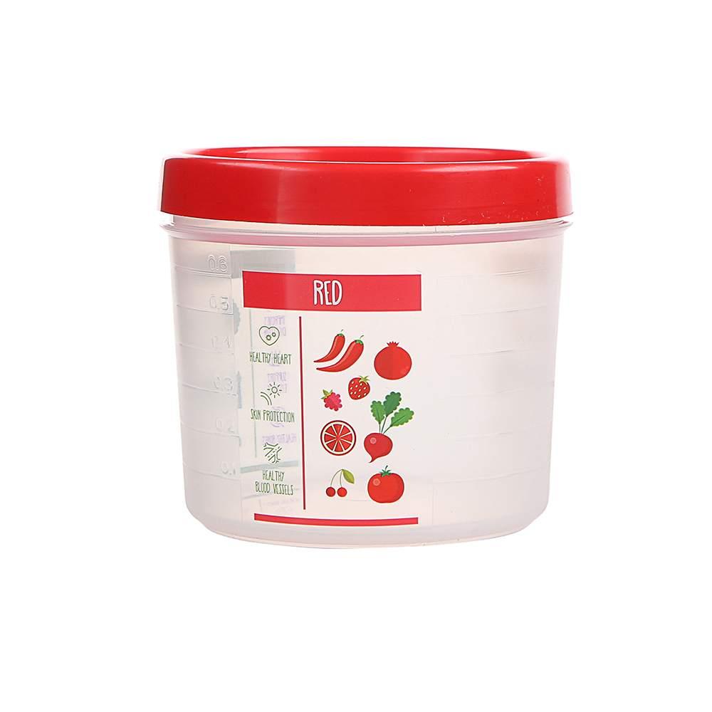 Pojemnik hermetyczny do przechowywania żywności Berossi Vitaline okrągły 0,8 l czerwony