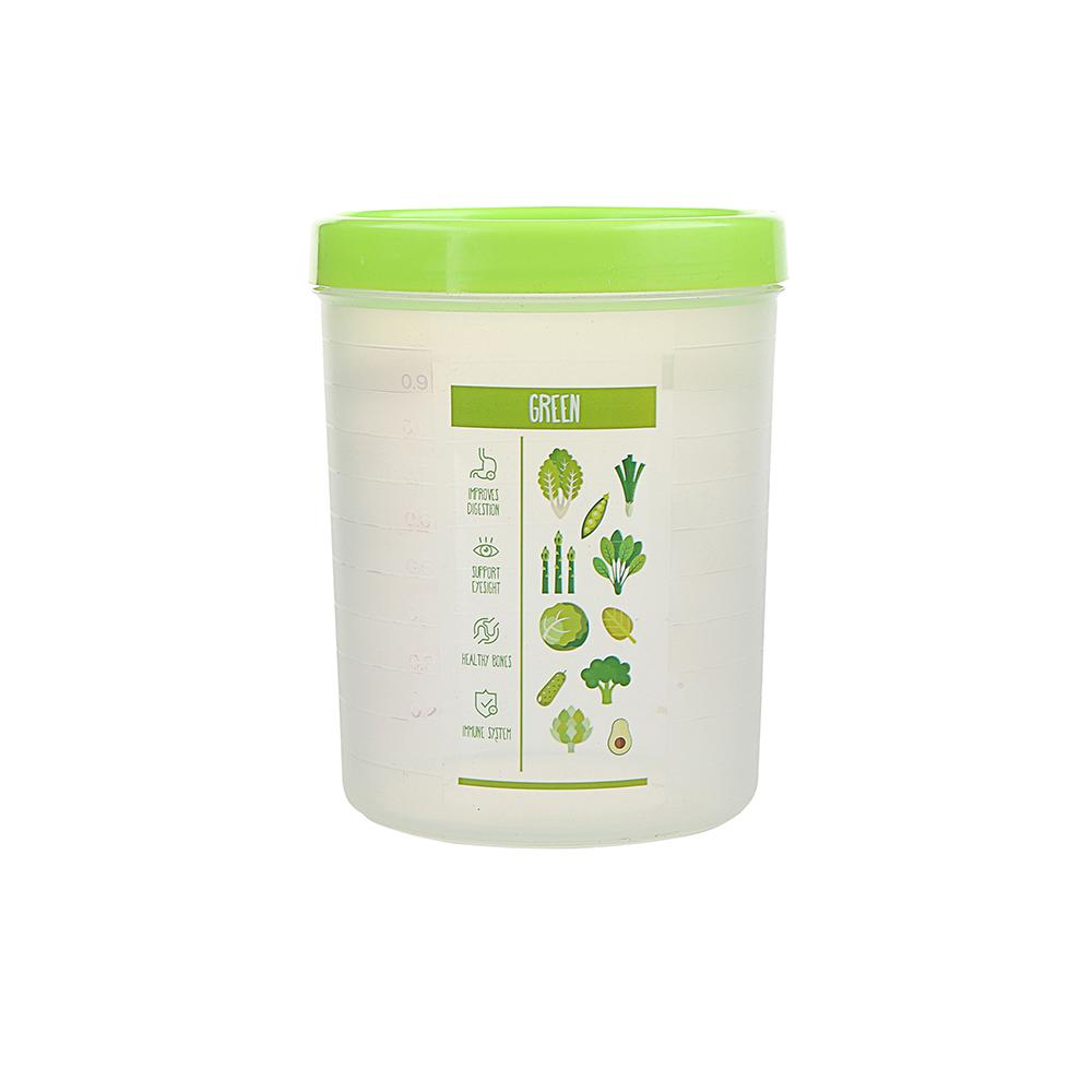 Pojemnik hermetyczny do przechowywania żywności Berossi Vitaline okrągły 1,2 l zielony