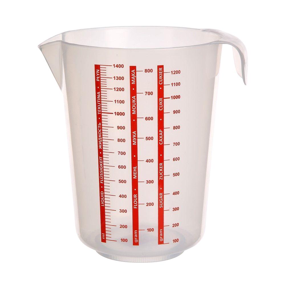 Dzbanek z miarką plastikowy Warmel 1,4 l