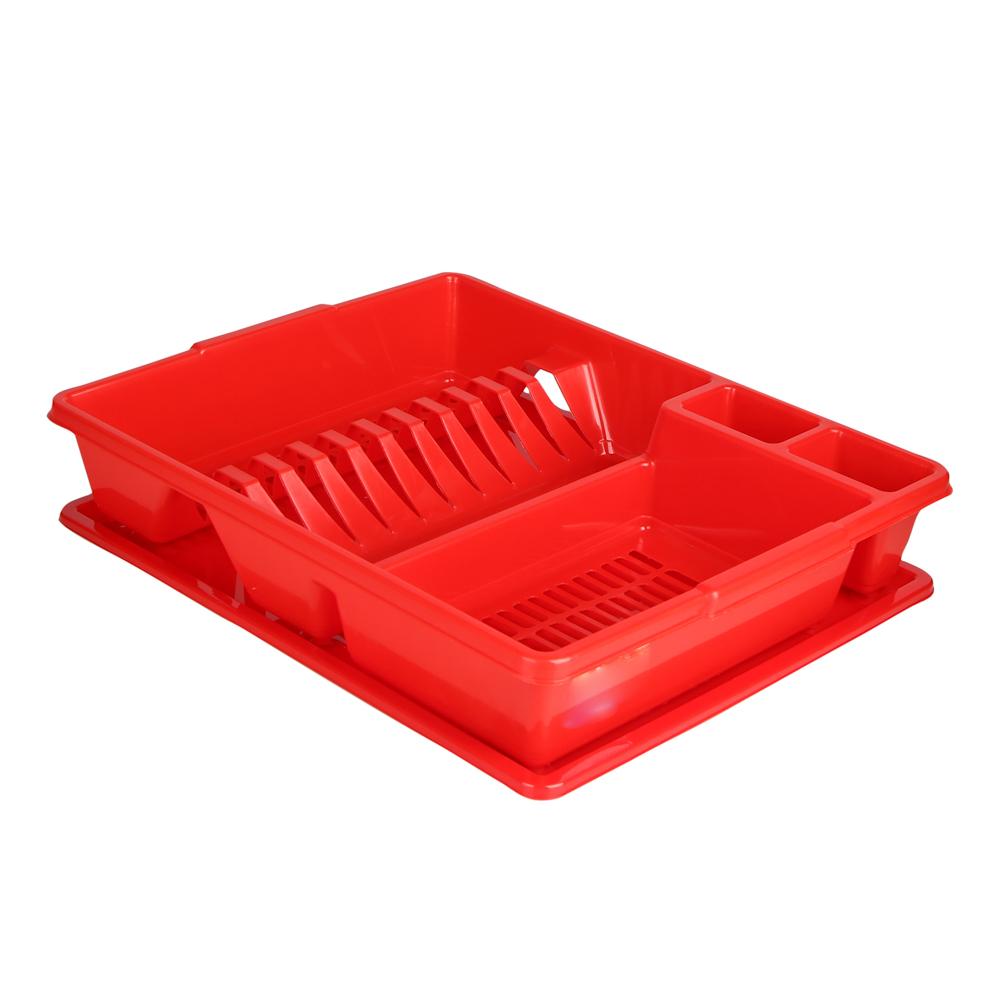 Suszarka do naczyń z tworzywa sztucznego Bentom Classic 43x35x9 cm czerwony