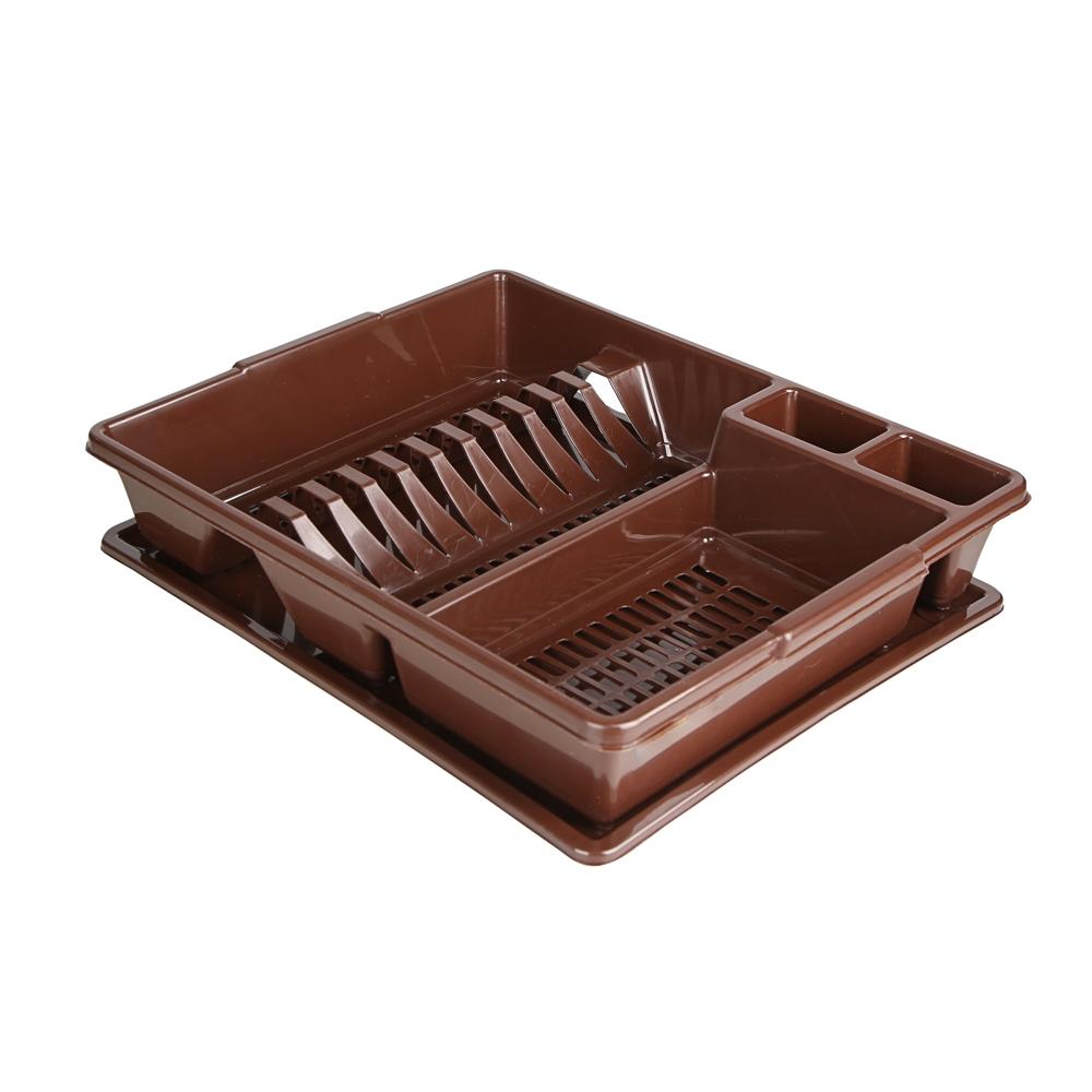 Suszarka do naczyń z tworzywa sztucznego Bentom Classic 43x35x9 cm brąz