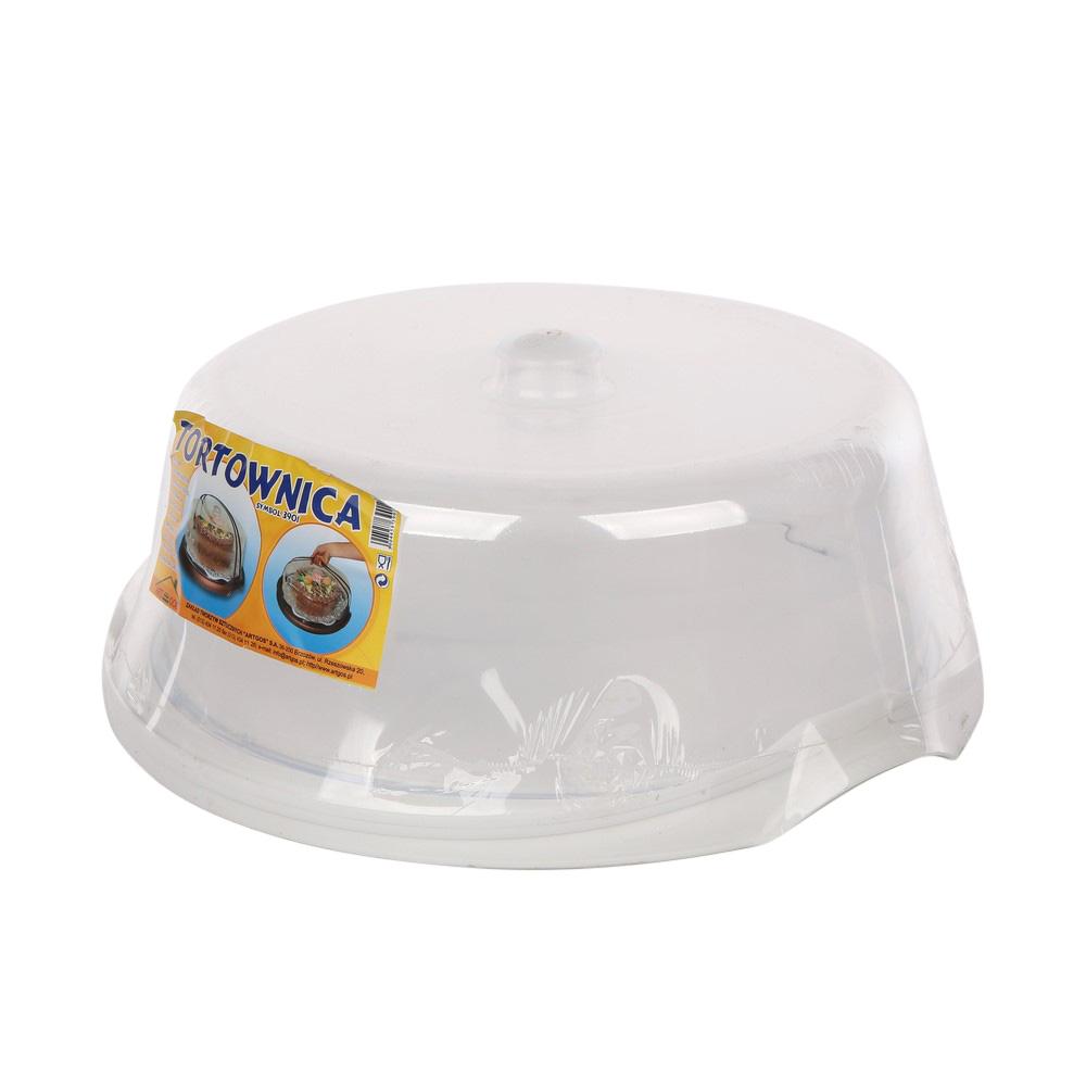 Pojemnik na ciasto / tortownica z pokrywą 38 cm biała