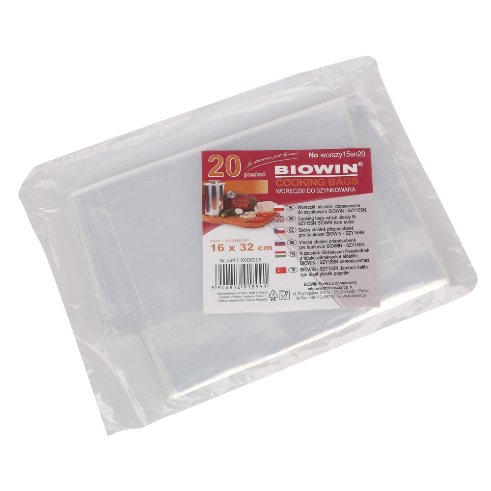 Woreczki foliowe do szynkowaru Browin 1,5 kg (20 sztuk)