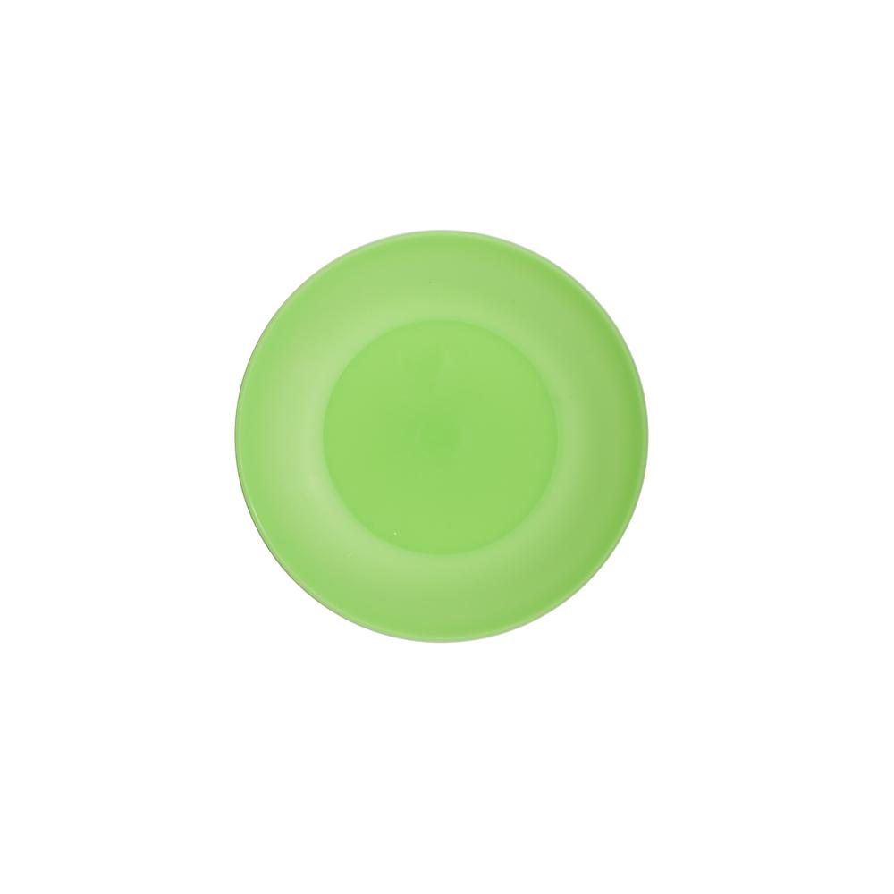 Talerz plastikowy Sagad 17 cm zielony