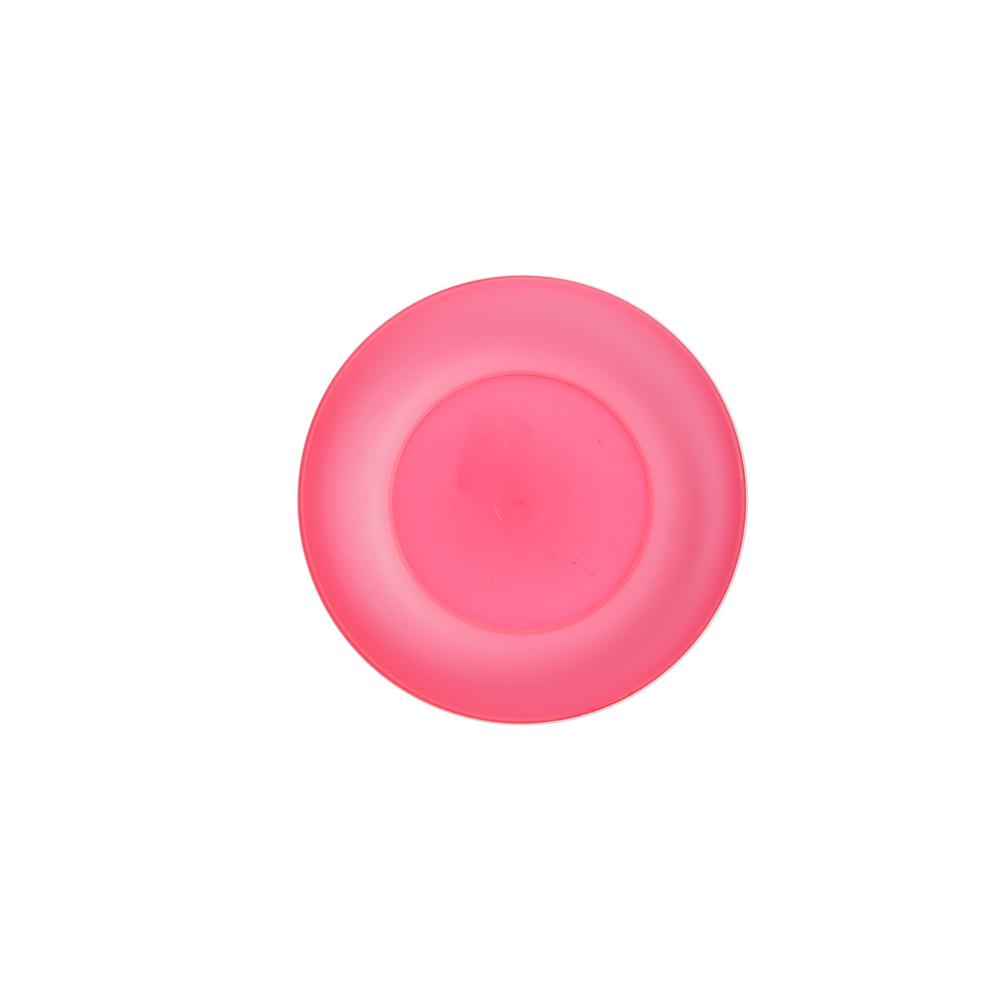 Talerz plastikowy Sagad 17 cm różowy